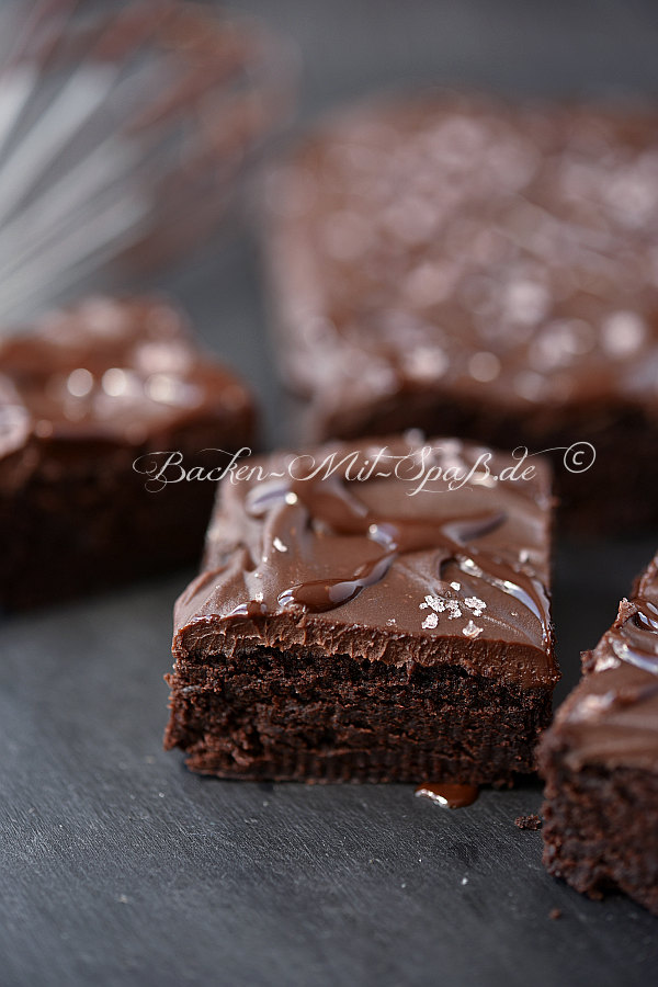 Fudge- Brownies mit Salzflocken