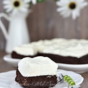 Brownies mit Mascarpone-Creme (Low Carb, Keto)